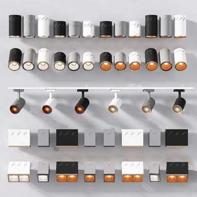 現代射燈3D模型