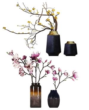 新中式花艺 新中式花艺 盆景摆件