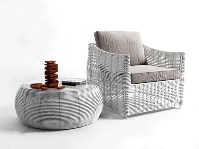 现代白色线条单椅 现代单椅 积木 茶几 书籍