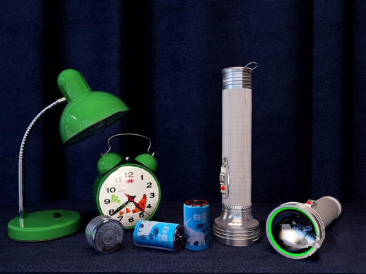 工业手电筒3D模型