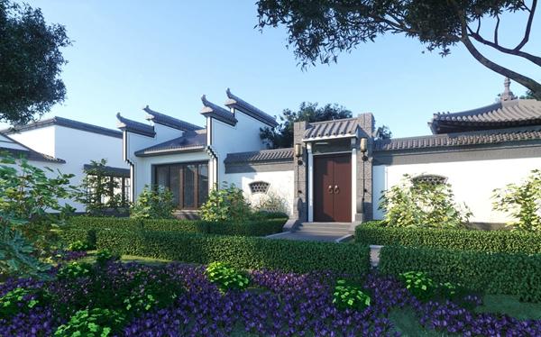 中式古建门头景观3d模型