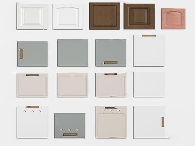 现代橱柜门板3d模型
