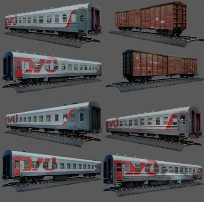 现代火车3D模型