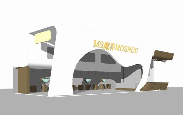 游戏软件展厅SU模型