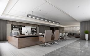 新中式集团董事长办公室3D模型