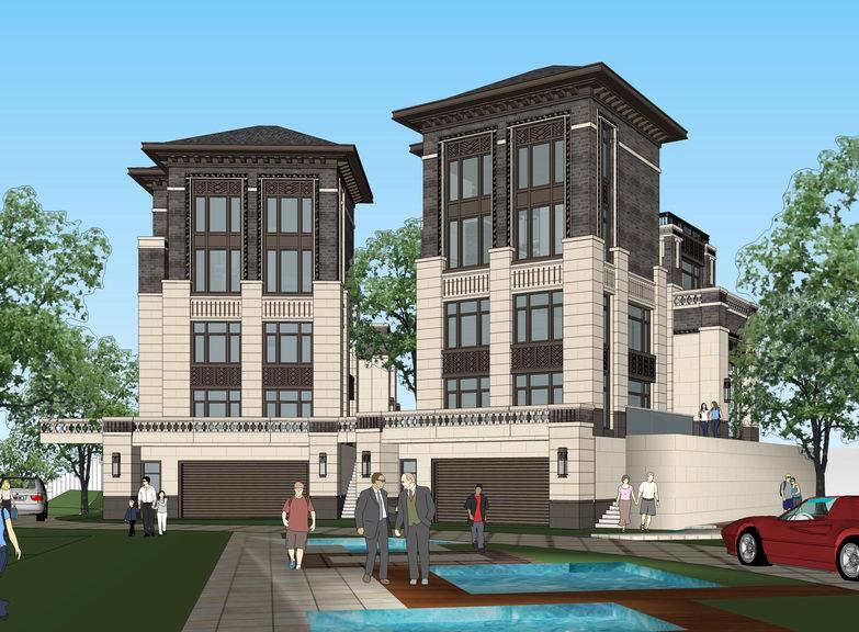 新中式别墅SU模型