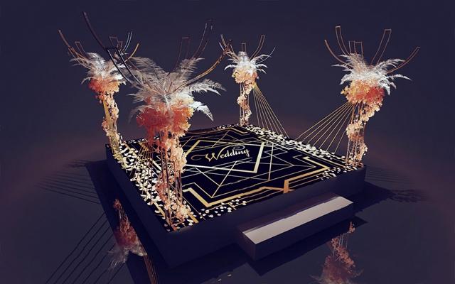 現代婚禮交接區3D模型