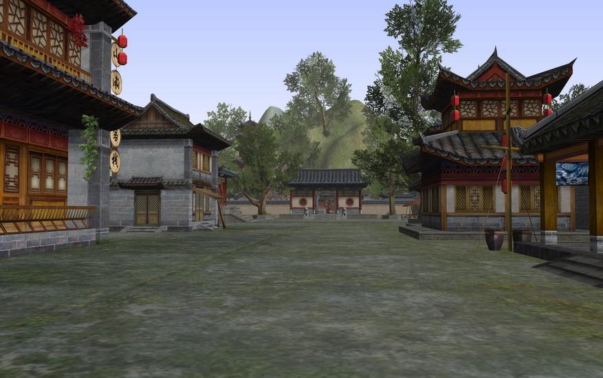 河阳城古建场景SU模型