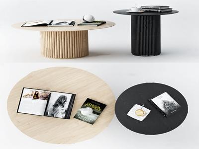 現代實木茶幾3d模型