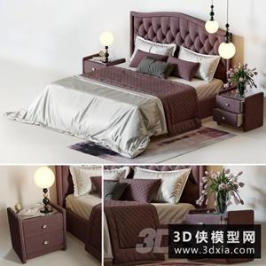 现代风格床模型组合