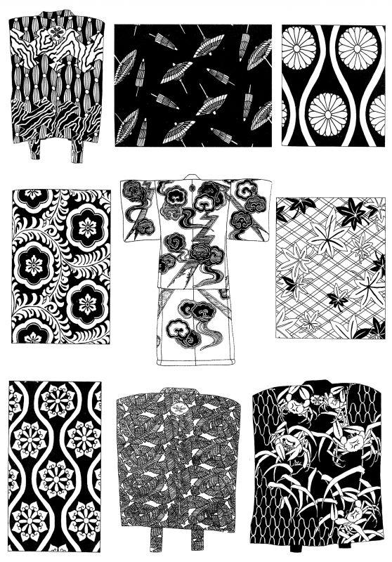 凹凸黑白-装饰花纹 197