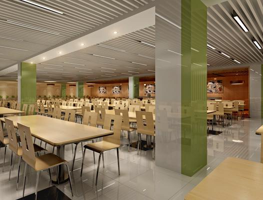 现代食堂 现代餐桌椅组合