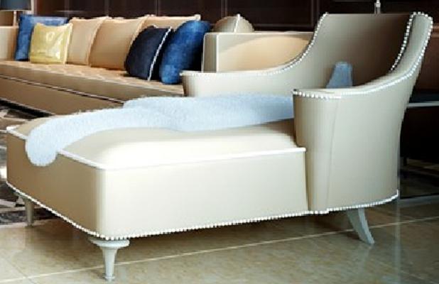 現代皮質沙發床