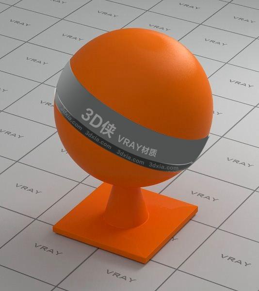 橙色塑料Vray材质下载