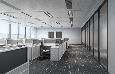现代办公区 现代办公区 办公桌 办公椅 电脑