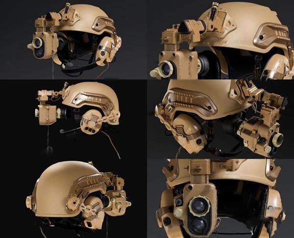 现代防弹头盔3d模型