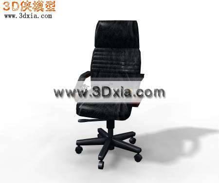 精细的办公椅3D模型下载