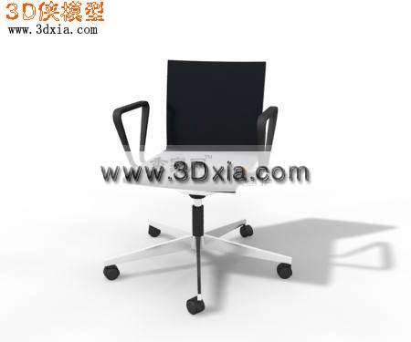经典的3D办公椅模型