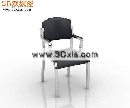 普通的3D办公椅模型下载