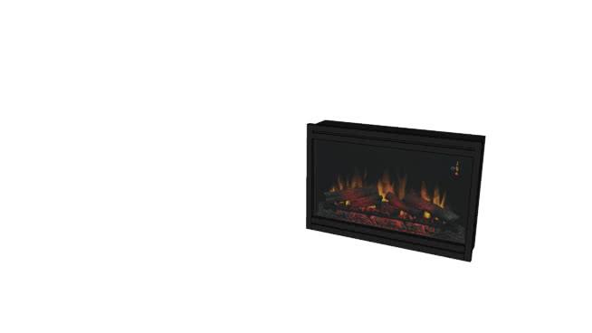经典火焰36在120伏-36EB110-GRT 壁炉 火炉 火炉栏 显示器 数字时钟