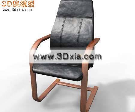 时尚的3D办公椅模型下载