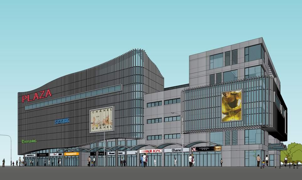 现代商业楼SU模型
