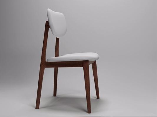 现代餐椅(软包靠背)HL.png 现代休闲椅 椅子 单椅 餐椅