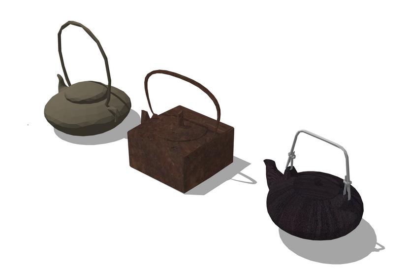 茶壺茶杯SU模型