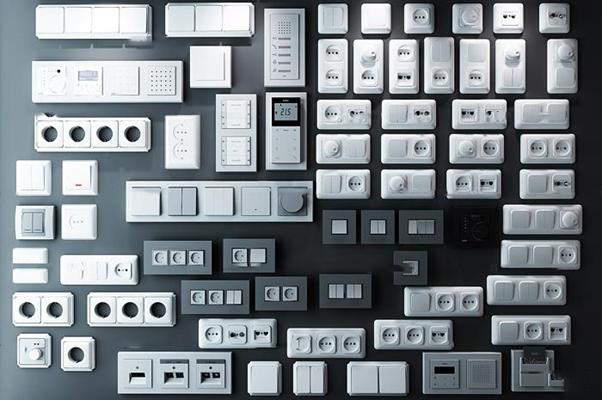 现代开关插座面板组合3D模型