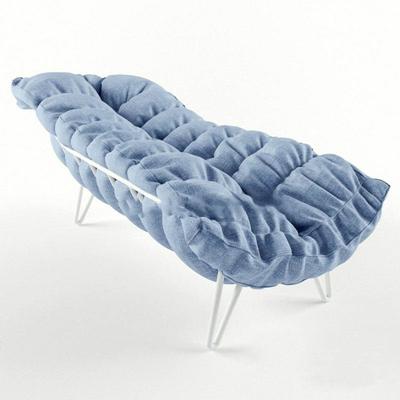 現代簡約休閑沙發床國外模型 現代簡約 休閑 沙發床