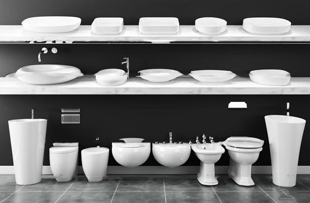 现代陶瓷便器立柱台盆组合3D模型