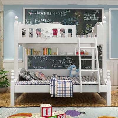 欧式儿童上下床书桌椅组合3D模型