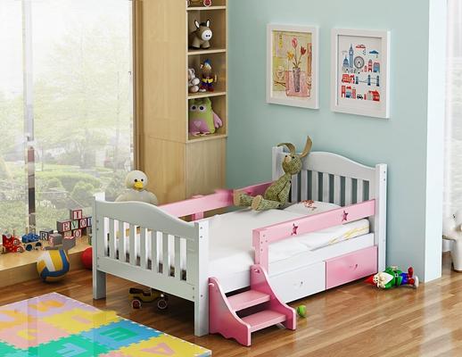 现代儿童床玩具组合3D模型