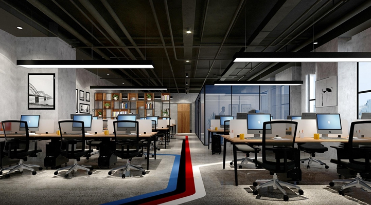 工业风敞开式办公室