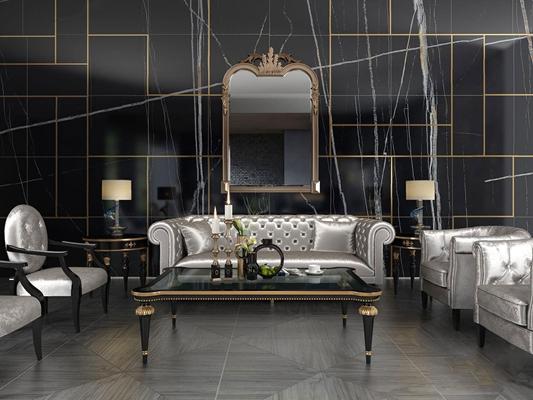 欧式新古典沙发组合