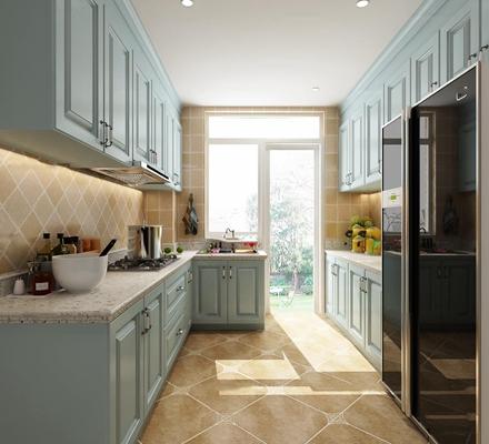 欧式厨房橱柜3D模型【ID:77184438】