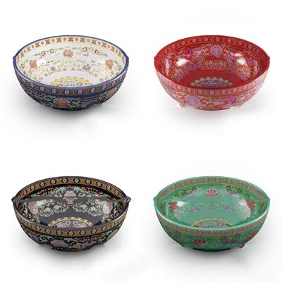 中式陶瓷洗手盆组合3D模型