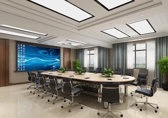 现代会议室3D模型