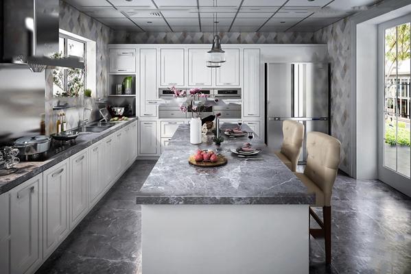欧式厨房3d模型