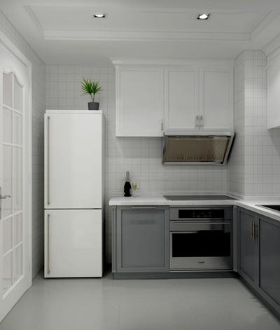 现代橱柜冰箱组合3d模型