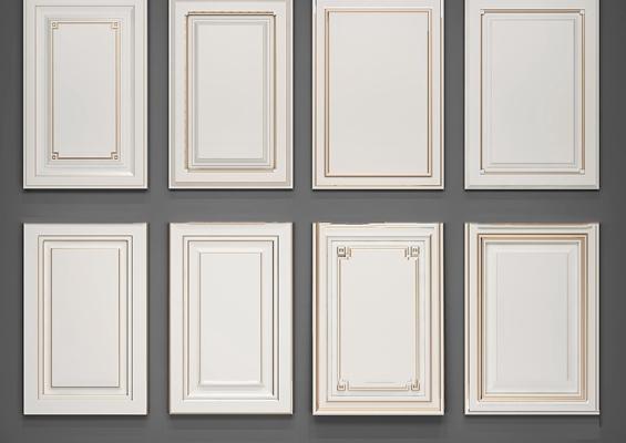 简欧橱柜门板3d模型