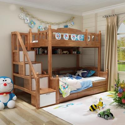 现代实木儿童上下床3D模型