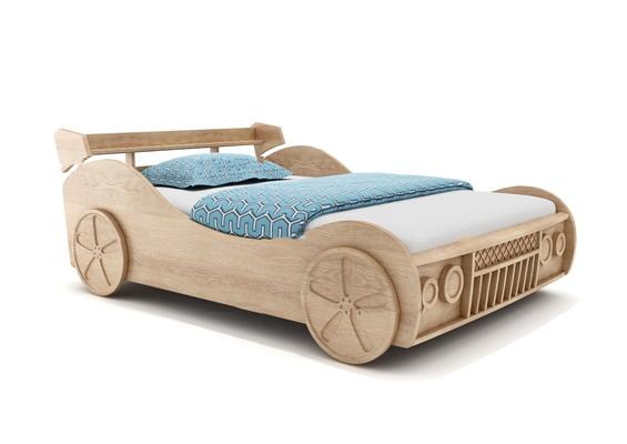 现代跑车造型儿童床3D模型