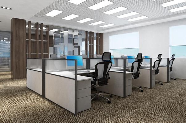 现代办公室洽谈区3D模型【ID:77210664】