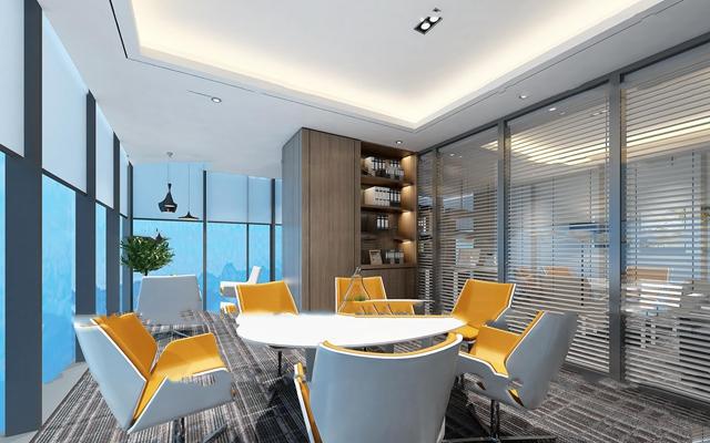 现代办公洽谈室3d模型