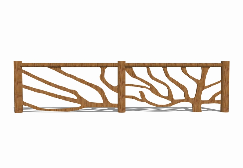 树枝篱笆SU模型