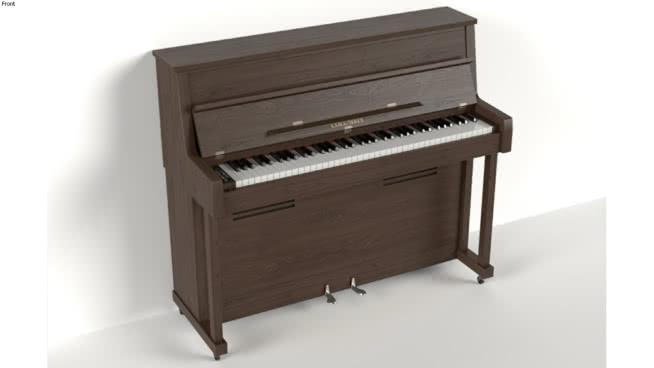 钢琴-哥伦比亚EP-57(V-Ray Ready) 立式钢琴