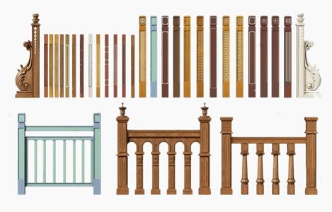 简欧实木楼梯立柱 简欧栏杆 木质栏杆