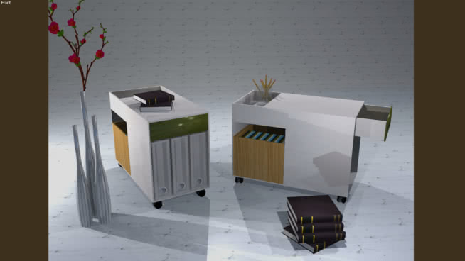 SimultRealUrx的移动机柜 垃圾箱 书桌 纸盒箱 取暖器 家居物品