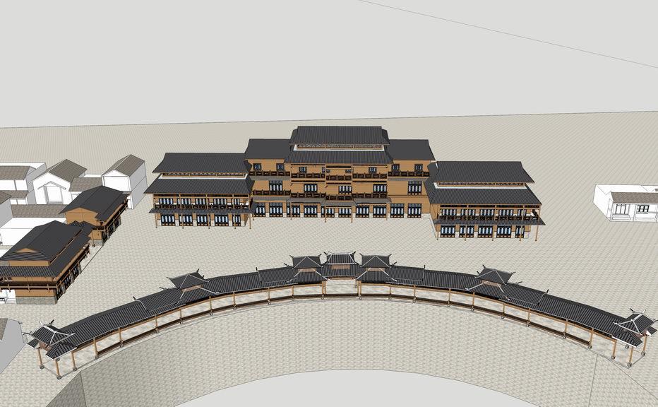 苗族建筑SU模型